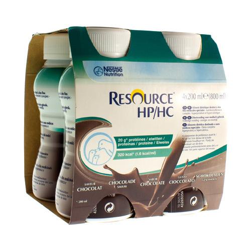 Resource Hp/Hc Chocolat (4 X 200 Ml)