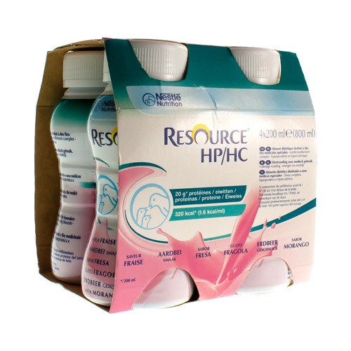 Resource Hp/Hc Aardbei (4 X 200 Ml)