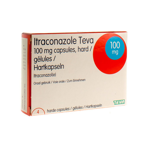 Itraconazole Teva 100 Mg (4 Gelules)