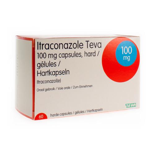 Itraconazole Teva 100 Mg (60 Gelules)