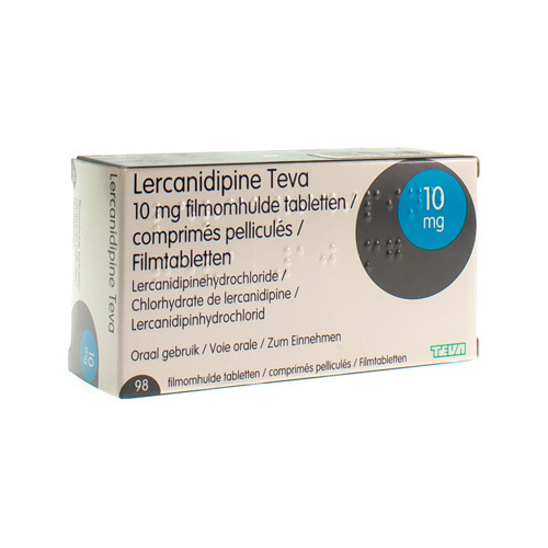 Lercanidipine Teva 10 Mg (98 Comprimes)