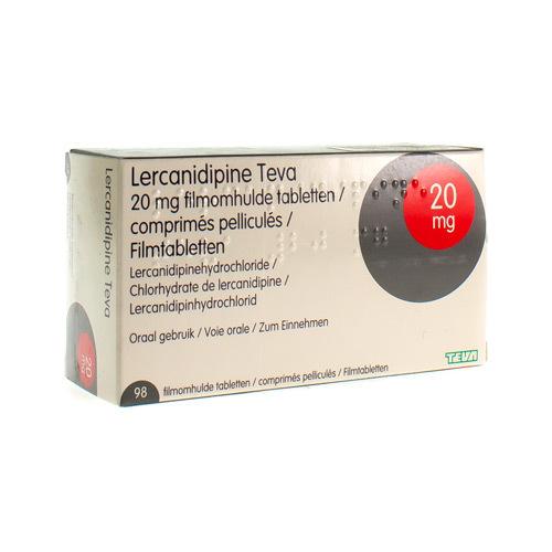 Lercanidipine Teva 20 Mg (98 Comprimes)