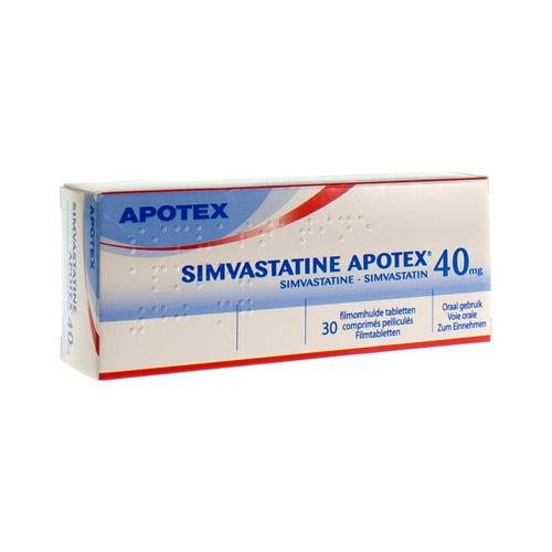Simvastatine Apotex 40 Mg (30 Comprimes)