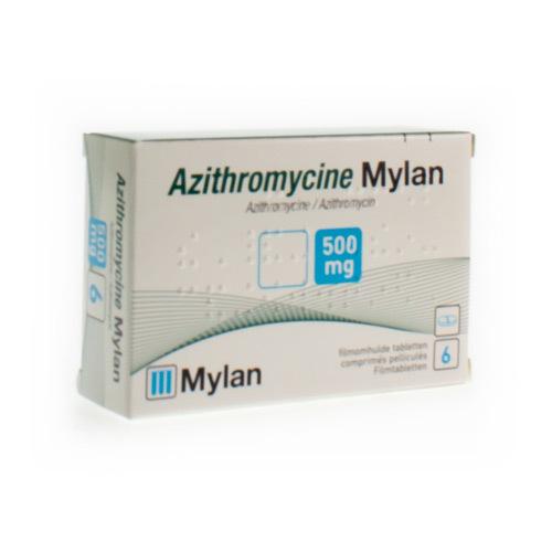 Azithromycine Mylan 500 Mg  6 Comprimes
