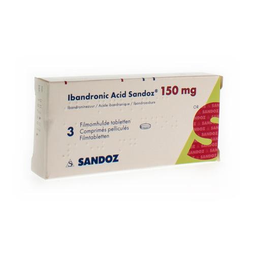 Ibandronic Acid Sandoz 150 Mg (3 Comprimes)