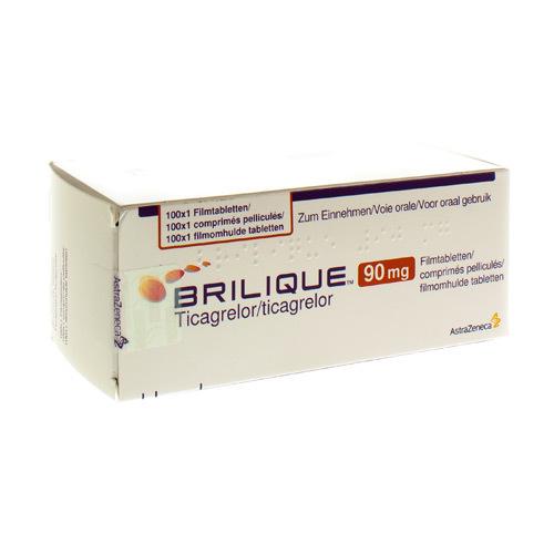 Brilique 90Mg Comprimes Pell 100 X 90Mg Ud