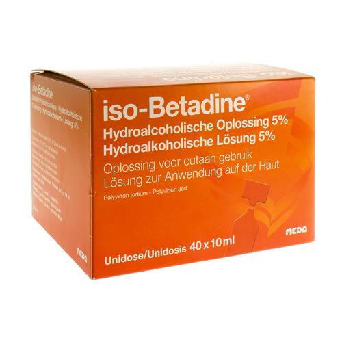 Iso Betadine Hydroalcoholische Oplos 5% Ud 40X10 Ml