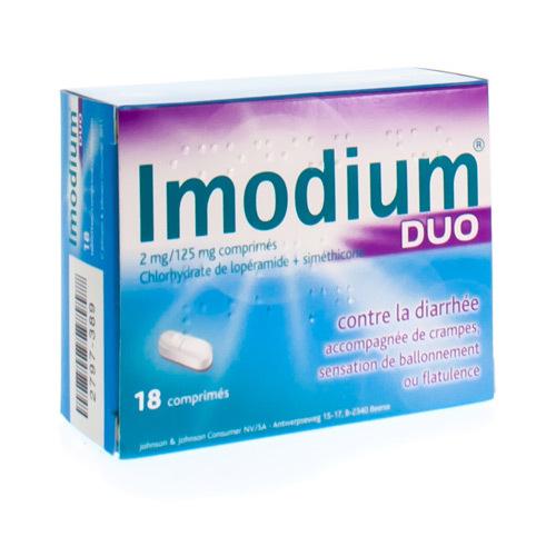 Imodium Duo 2 Mg / 125 Mg (18 Comprimes)