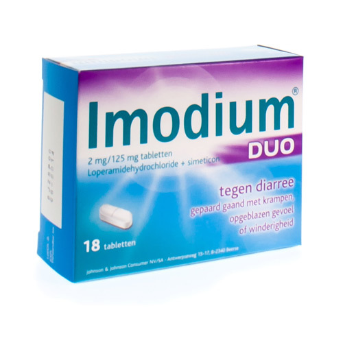 Imodium Duo 2 Mg / 125 Mg (18 Tabletten)