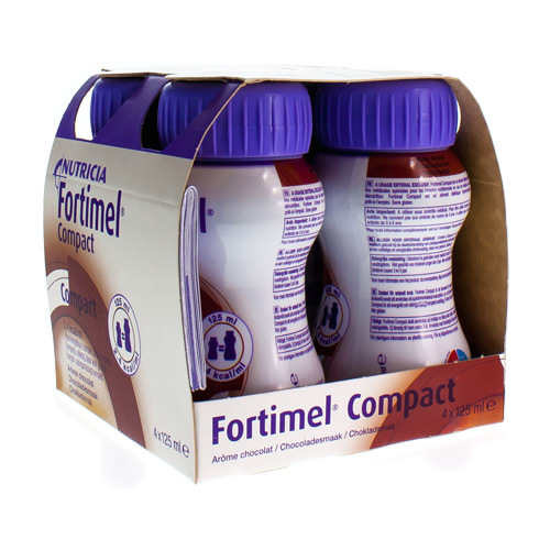 Fortimel Compact Chocolade (4 X 125 Ml)