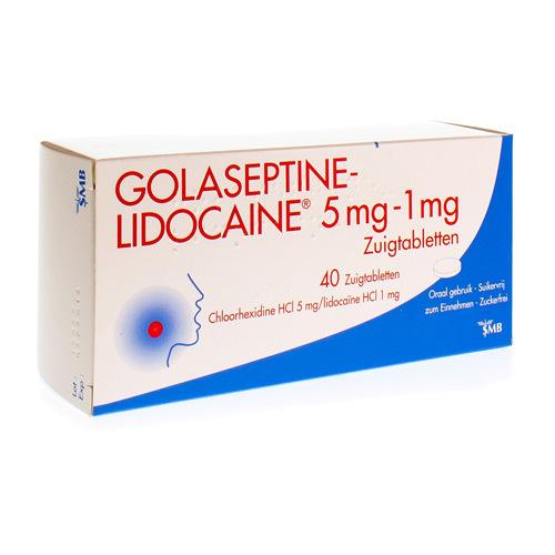 Golaseptine Lidocaine 5 Mg / 1 Mg (40 Zuigtabletten)