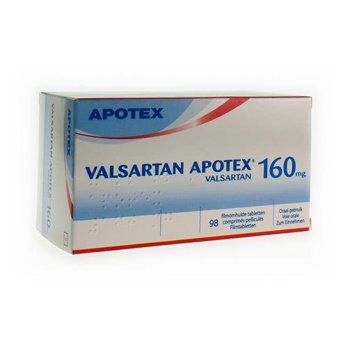 Valsartan Apotex 160 Mg (98 Comprimes)