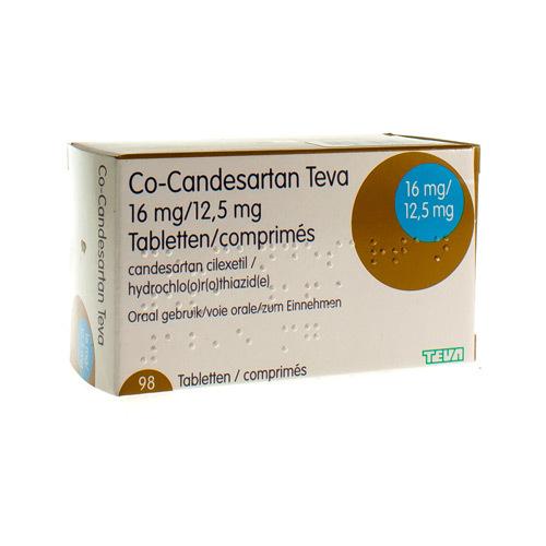 Co-Candesartan Teva 16 Mg / 12,5 Mg  98 Comprimes