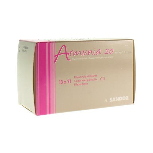 Armunia 20 0,02 Mg / 3 Mg  13 X 21 Comprimes