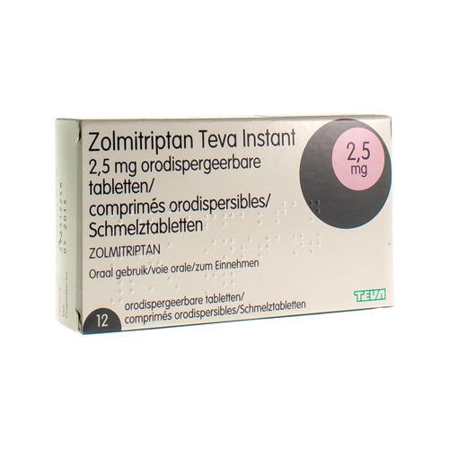 Zolmitriptan Instant Teva 2,5 mg Comp Orodisp 12