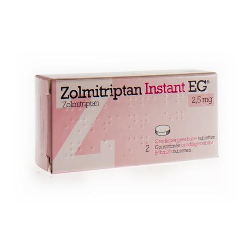 Zolmitriptan Instant EG 2,5 Mg (2 Comprimes Orodispersibles)