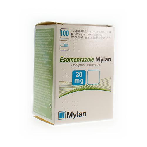 Esomeprazole Mylan 20 Mg (100 Gelules)