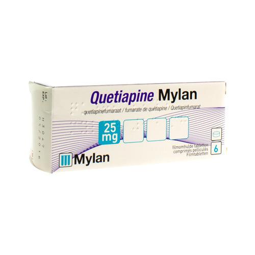 Quetiapine Mylan 25 Mg (6 Comprimes)