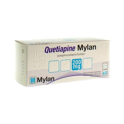 Quetiapine Mylan 200 Mg (60 Comprimes)