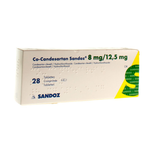 Co-Candesartan Sandoz 8 Mg / 12,5 Mg  28 Comprimes