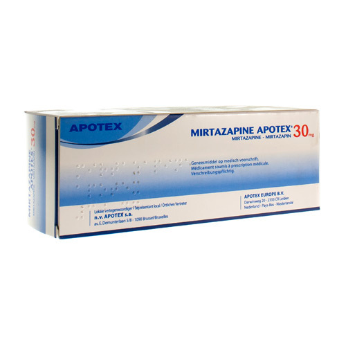 Mirtazapine Apotex 30 Mg (90 Comprimes Orodispersibles)