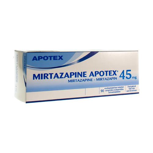 Mirtazapine Apotex 45 Mg (90 Comprimes Orodispersibles)