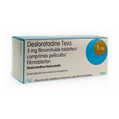 Desloratadine Teva 5 Mg  100 Comprimes