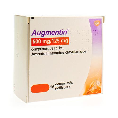 Augmentin 500 Mg / 125 Mg  16 Comprimes
