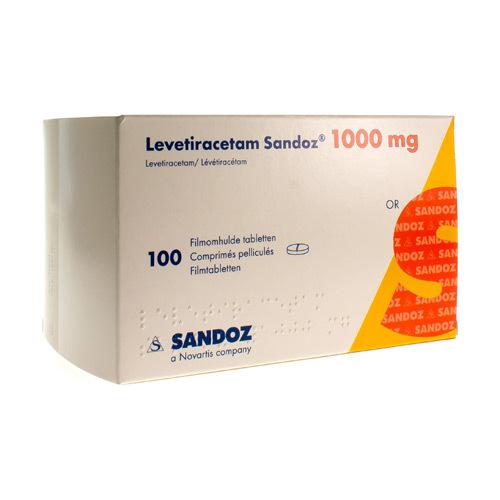 Levetiracetam Sandoz 1000 Mg (100 Comprimes)