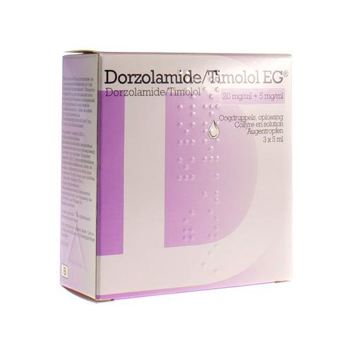 Dorzolamide/Timolol EG 20 Mg/Ml / 5 Mg/Ml  3 X 5 Ml