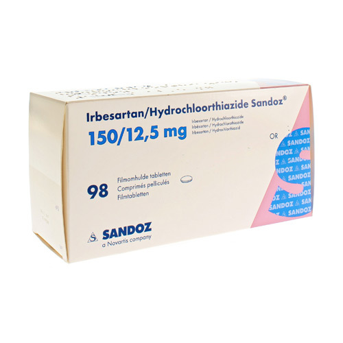 Irbesartan/Hydrochlorothiazide Sandoz 150 Mg / 12,5 Mg (98 Comprimes)