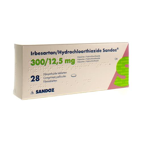 Irbesartan/Hydrochlorothiazide Sandoz 300 Mg / 12,5 Mg (28 Comprimes)