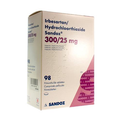 Irbesartan/Hydrochlorothiazide Sandoz 300 Mg / 25 Mg (98 Comprimes)