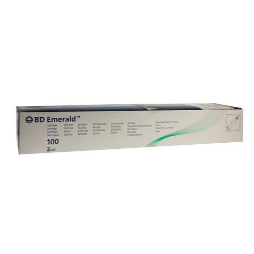 Spuit Luer Bd Emerald 2Ml 100St R 307727