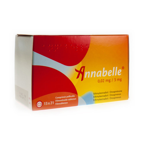 Annabelle 0,02 Mg / 3 Mg  13 X 21 Comprimes