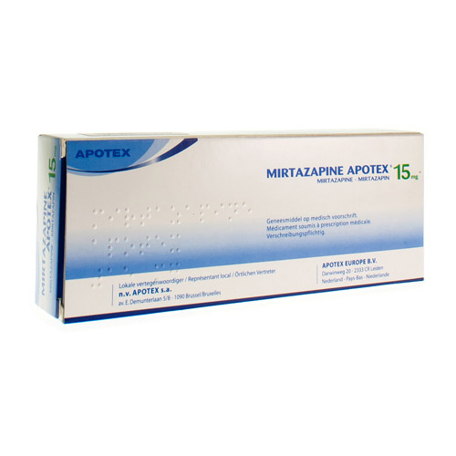 Mirtazapine Apotex 15 Mg (30 Comprimes Orodispersibles)