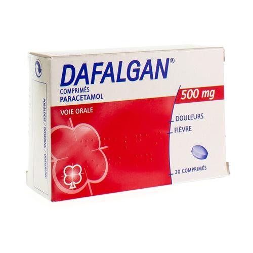 Dafalgan 500 Mg  20 Comprimes
