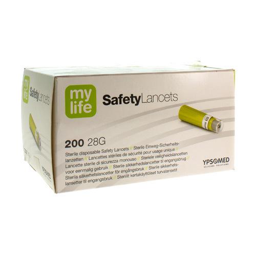 Mylife Safety Lancets Lancetten Ster 28g 200 kopen doe je voordelig hier