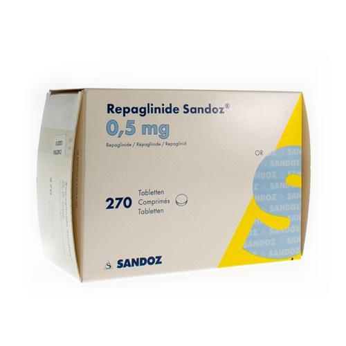 Repaglinide Sandoz 0,5 Mg (270 Comprimes)