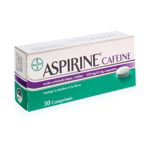 Aspirine Caffeine 650 Mg / 65 Mg  30 Comprimes
