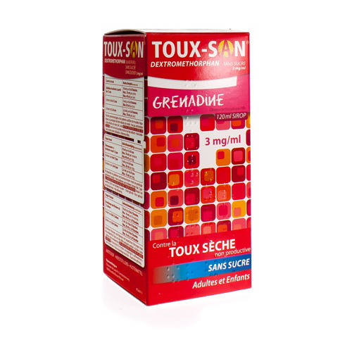 Toux-San Dextromethorphan Sans Sucre 3 Mg/Ml (120 Ml)