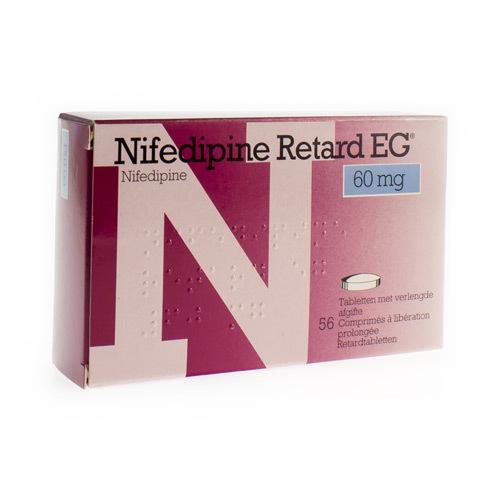 Nifedipine Retard EG 60 Mg (56 Comprimes)