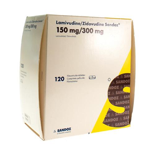 Lamivudine Zidovudine Sandoz 150 Mg / 300 Mg (120 Comprimes)