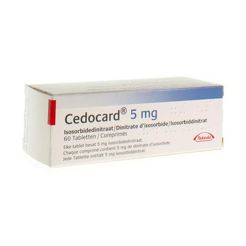 Cedocard 5 mg (60 comprimés)