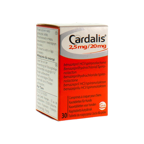 Cardalis Veterinaire 2,5 Mg / 20 Mg  30 Comprimes