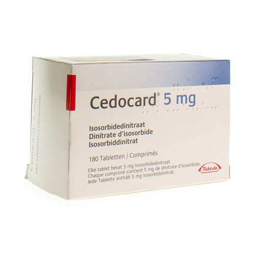 Cedocard 5 Mg  180 Comprimes