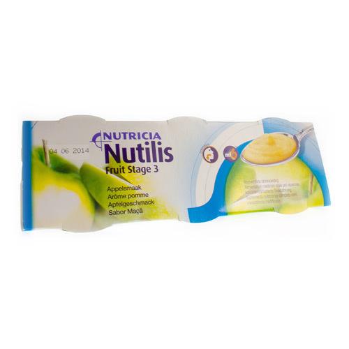 Nutilis Fruit Stage 3 Pomme (3 X 150 Grammes)