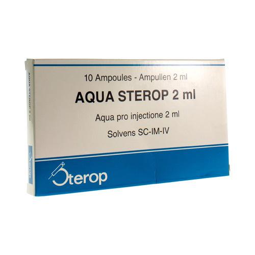 Aqua Sterop 2 Ml  10 Ampullen