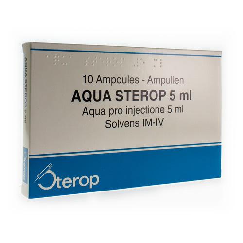 Aqua Sterop 5 Ml  10 Ampullen