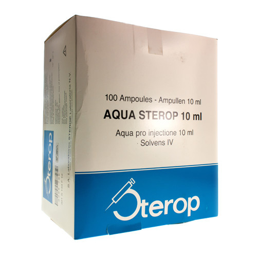 Aqua Sterop 10 Ml (100 Ampoules)